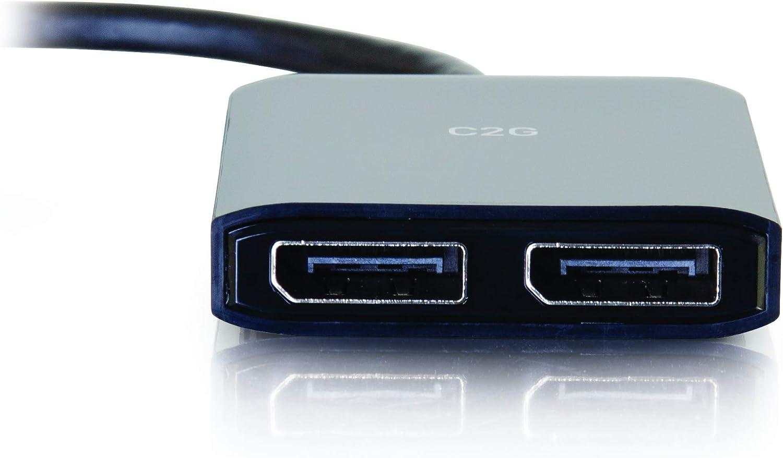 C2G Mini DisplayPort 1.2 to Dual DisplayPort 4K Dual Monitor MST Hub Mini DP Multi-Stream Transport MST Multiple Monitor Splitter