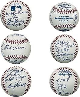 Baltimore Orioles Autographed Hall of Fame HOF Signed Baseball Earl Weaver Brooks Robinson Jim Palmer + 16 Signatures JSA COA With UV Display Case