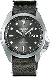 Seiko Sport 5 Facelift Automatic Nylon Strap gray Watch SRPE61K1