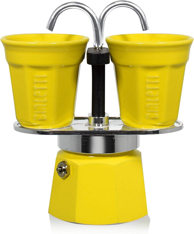 Bialetti Espressokocher, Aluminum, gelb, 22 x 8 x 21,5 cm, 3