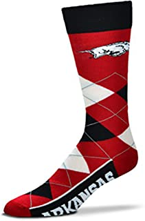 For Bare Feet Men's NCAA Argyle Lineup Crew Dress Socks-One Size Fits Most