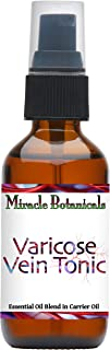 Miracle Botanicals Varicose Vein Tonic - Essential Oil Blend - 100% Pure Therapeutic Grade Essential Oils and Carrier Oils...