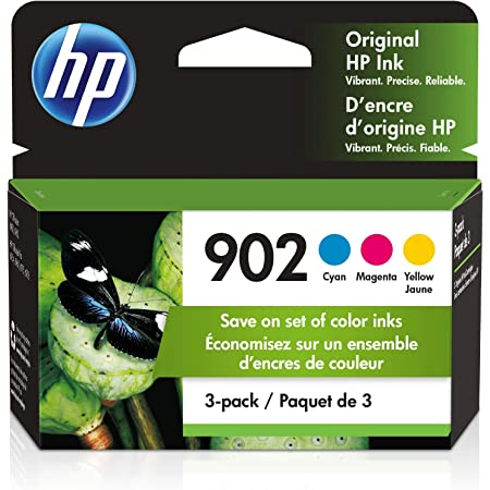 HP 902 | 3 Ink Cartridges | Cyan, Magenta, Yellow | Works with HP OfficeJet 6900 Series, HP OfficeJet Pro 6900 Series | T6L86AN, T6L90AN, T6L94AN