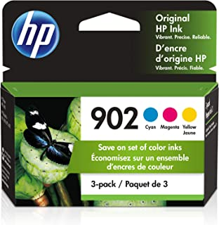 HP 902 | 3 Ink Cartridges | Works with HP OfficeJet 6900 Series, HP OfficeJet Pro 6900 Series | Cyan, Magenta, Yellow | T6...