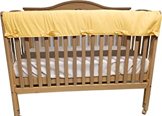 Baby Doll Bedding Solid Big Crib Rail Cover, Yellow