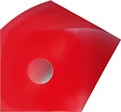 (25) 12 Colored Vinyl Record Jackets with Center Hole - Red #12JWREHH