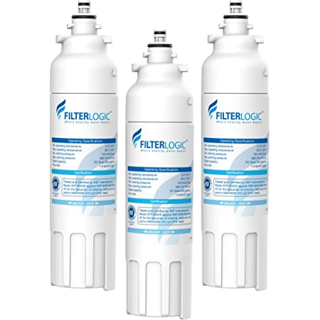 FilterLogic ADQ73613401 Refrigerator Water Filter, Replacement for LG LT800P, ADQ73613402, ADQ73613408, ADQ75795104, Kenmore 9490, 46-9490, LSXS26326S, LMXC23746S, LMXC23746D (Pack of 3)