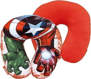 Spiderman Cojin Cuello Poly 33x33cm de Avengers, Multicolor, 33 cm