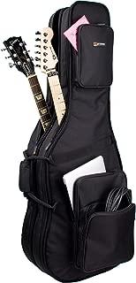 Protec CF234DBL Double Electric Guitar Gig Bag, Gold Series (Fits Strat, Tele, Les Paul Shaped Guitars)