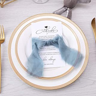 dusty blue place cards