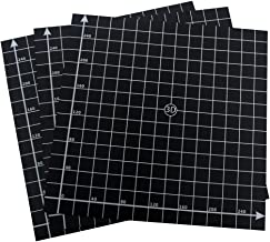 Wisamic 3 Pack 300mmx300mm 3D Printing Build Surface Heat Bed with 3M Adhesive, 10mm Grid, for 3D Printers Prusa, CR-10, Mendela, AO Series