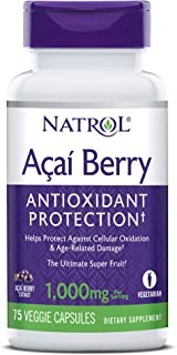 Natrol AcaiBerry 1000 Mg Vegetarian Capsules, 60-Count