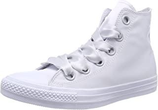 Converse Women's CTAS Big Eyelets Pure Platinum Hi-Top Trainers, Grau (Pure Platinum/Pure Platinum)