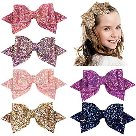3 Gold Sparkle Bow Hair Clip Toddler Hair Clip Gold Sequin Bow Girl Hair Clip Baby Girl Hair Clip Baby Barrette Baby Hair Clip