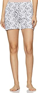 Easybuy Women's Night wear Knitted Printed Short Regular Cotton Blend