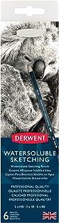 أقلام رسم قابلة للذوبان في الماء من ديروينت، علبة معدنية، 6 قطع (0700837)