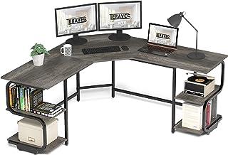 Teraves Modern L Shaped Desk with Shelves,Computer Desk/Gaming Desk for Home Office,Corner Desk...