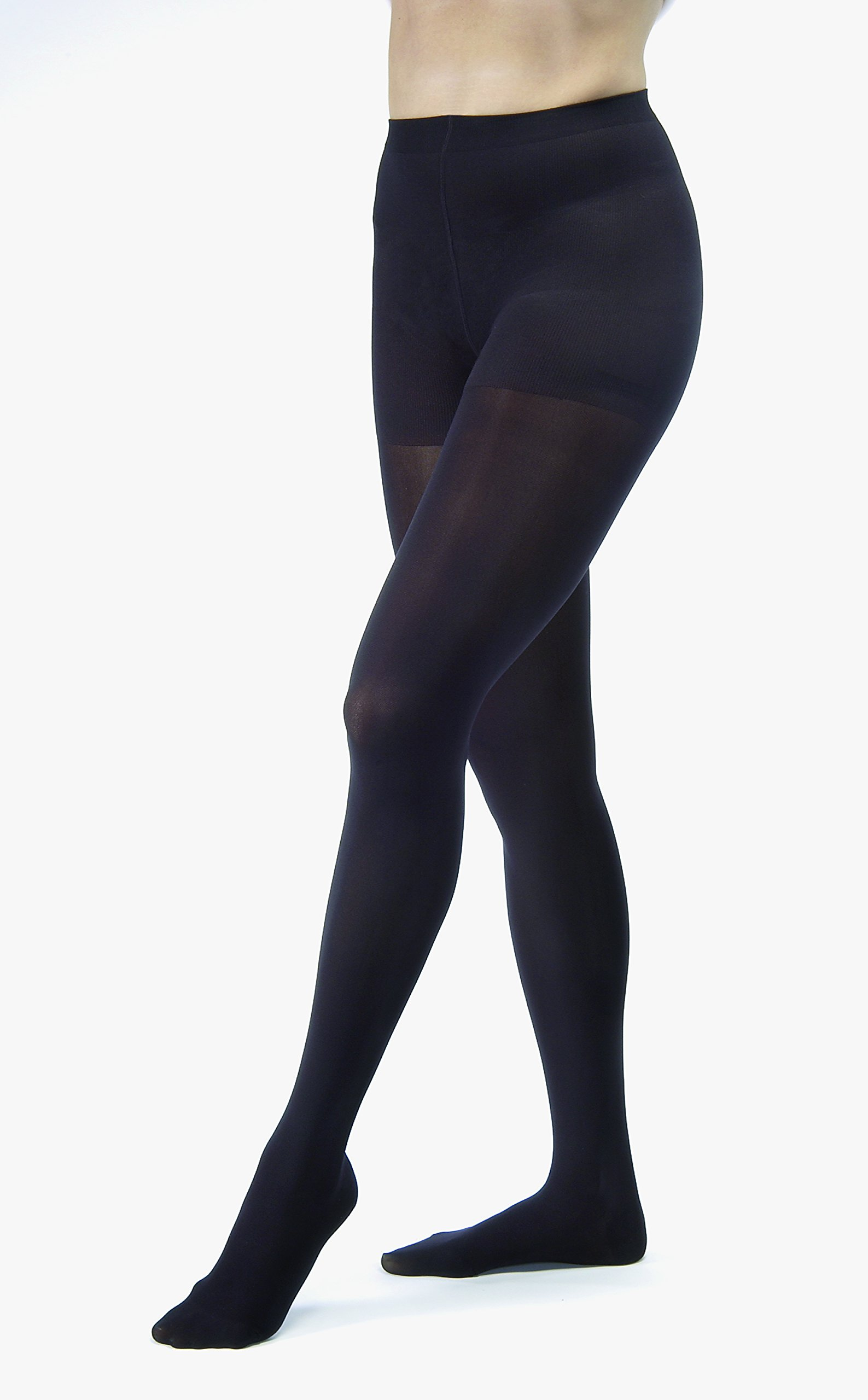 Womens Opaque 30 40 Support Pantyhose