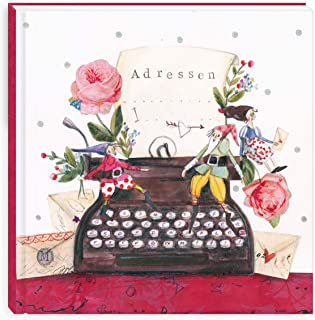 Pink oder Schwarz mit Stift A-Z Index Hardcover The Home Fusion Company A bis Z Adressbuch A5