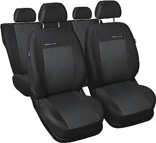 GSC Sitzbezüge Autositzbezug Komplettset 5 Sitze, Universal Grau, Elegance, kompatibel mit Nissan Qashqai 5 Sitze