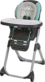 pink and brown graco high chair