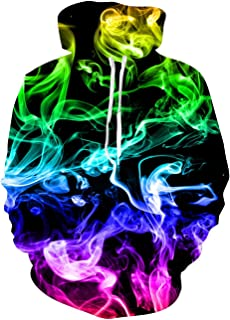 Unisex 3D Print Ugly Christmas Fleece Hoodie Cool Novelty Pullover Hooded Sweatshirt