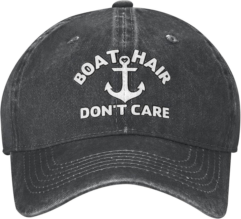 Camp Hair Don't Care Hat Baseball Denim Cap Adjustable Washable Sports Unisex Hat for Man Woman