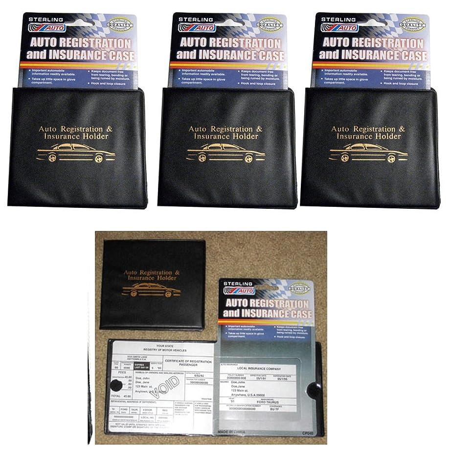 STERLING Set of 3 Auto Car Registration Insurance Holder Wallet