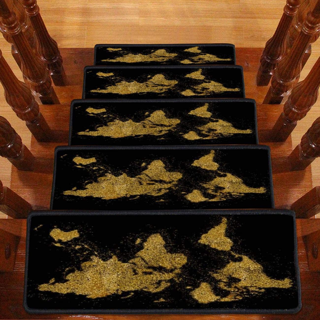 The World Shaped from Golden outlet Glitter Stai Carpet Black on Max 90% OFF Series