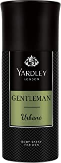 Yardley Gentleman Urbane Body Spray, For Vigorous and Flamboyant male, Sandalwood, Patchouli and Musk, 150ml