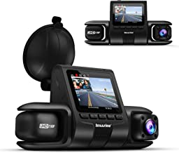 Imazing Dual Dash Cam 2K Front and 1080P Cabin or 4K 24fps Single Front ,for Cars with Wi-Fi, Night Vision, Parking Mode, ...