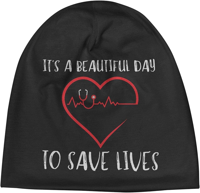 It's A Beautiful Day to Save Sale Lives Slogan Warm Unisex Super-cheap Beanie Cap