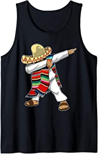 Mexican Independence Day Dabbing Poncho Tank Top
