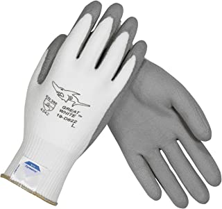 Great White 19-D622/L Seamless Knit Dyneema/Lycra Glove with Polyurethane Coated Smooth Grip on Palm and Fingers