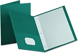 Oxford Two-Pocket Portfolios w/3-Tang Fasteners, Teal, Letter Size, 25 per Box, (57755EE)