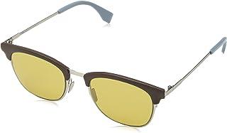 FENDI - FF 0228/S 70 4ES Gafas de Sol, Marrón (Silv Brown/Brown), 50 para Hombre