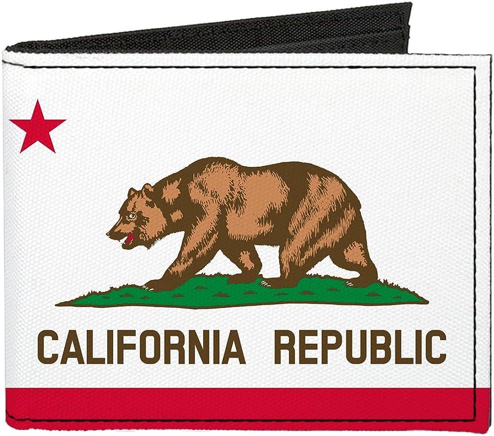 Buckle-Down Canvas Bi-fold Wallet-California Flag
