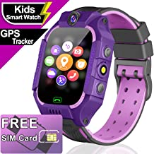 iGeeKid [Free SIM Card Package Girls Gift Smart Watch for Kids - Smart Watch Phone with GPS Tracker Anti-Lost SOS Dial Call Camera Alarm Children Touch Screen Wrist Watch Birthday Gifts