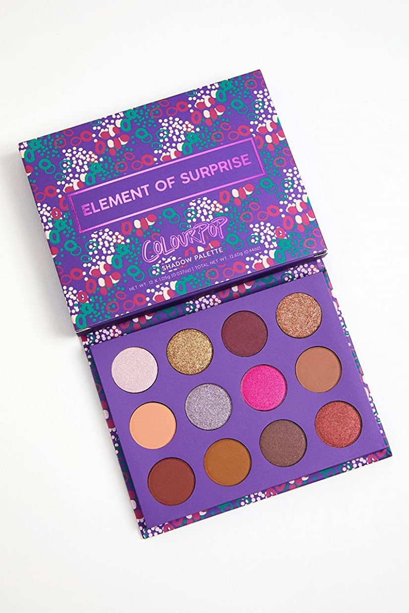 疲労観客ブロッサムColourPop - Pressed Powder Shadow Palette - Element of Surprise