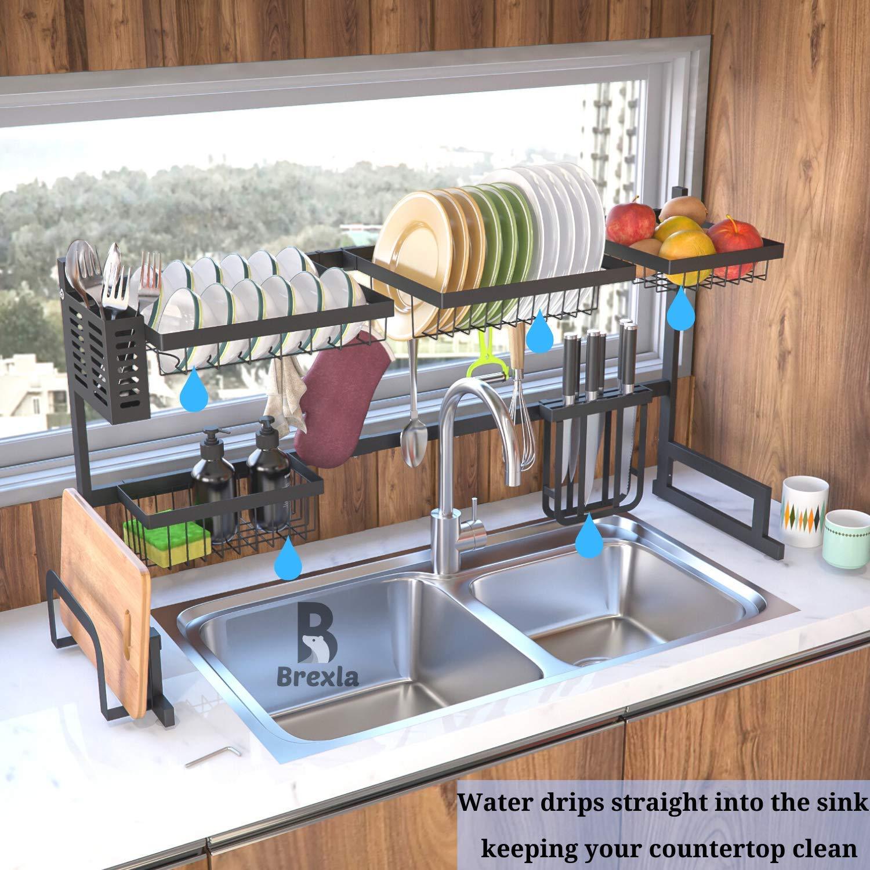 Brawdress Telescopic Sink Rack Holder for Home Kitchen