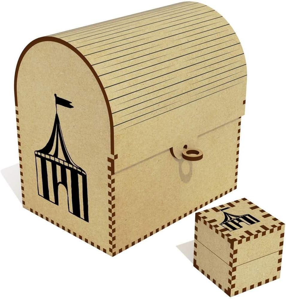 Azeeda 'Circus Tent' Treasure TC00010891 Nippon regular agency Box Popular standard Chest Jewellery