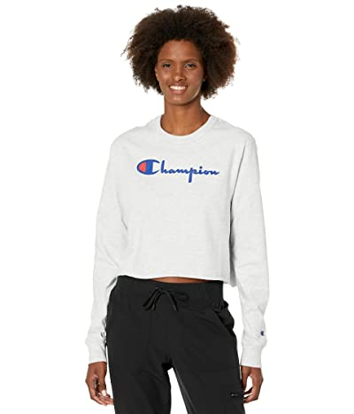 Champion LIFE Boyfriend Long Sleeve Cropped T-Shirt