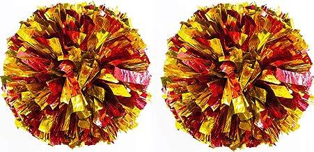 Jixista Animadoras Pompones Cheerleader Pompom Pompones de porristas 2pcs Profesionales Usan Pompones Ligeros para Entrenamiento Especial para Deportes de Equipo Accesorio útil