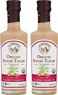 La Tourangelle Organic Sesame Tamari Vinaigrette, 8.45 fl. oz., 2-Bottle Pack, Salad Dressing and Marinade, Made with Organic Toasted Sesame Oil, Gluten-Free, Low Sodium, Naturally Sugar Free, 2 Count