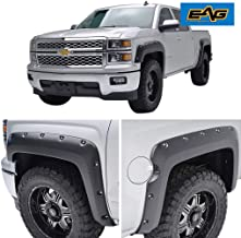 EAG Front and Rear Fender Flares Pocket Style Fit for 14-18 Chevrolet Silverado 1500 (5.9 Ft. Bed)