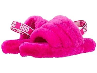 UGG Kids Fluff Yeah Slide (Little Kid/Big Kid) (Rock Rose) Girls Shoes