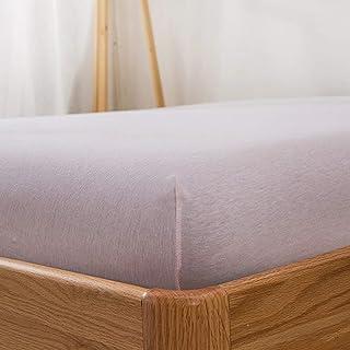 Premium Quality Plain Fitted Sheet, Soft & Cosy Fleece Bed Linen, Kingsize Bedsheet,Light pink,180x200+35cm+25cm
