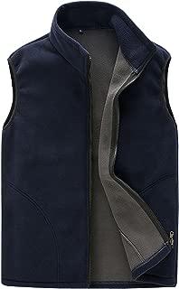 Adult Mens Lightweight Sleeveless Fleece Warm Vest Athletic Gilet Front Zipper Jacket with Pockets