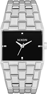 NIXON Ticket A1262 - Silver/Black - 50 Meter / 5 ATM Water Resistant Men's Analog Fashion Watch (34mm Watch Face, 30mm-23mm Stainless Steel Band)
