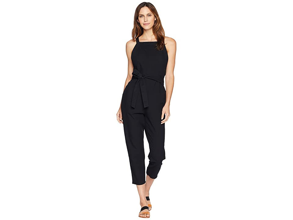 Image of AG Adriano Goldschmied Darcy Jumpsuit (True Black) Women's Jumpsuit & Rompers One Piece